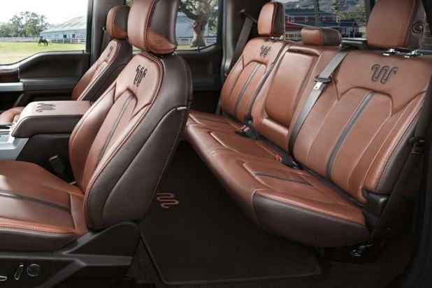 Seats Front Bucket With Centre Flow Through Console And Floor Shifter King Ranch Leather Trim