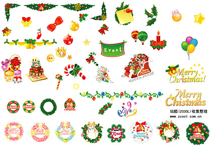Christmas Decoration Items Download Free VectorPSDFLASH