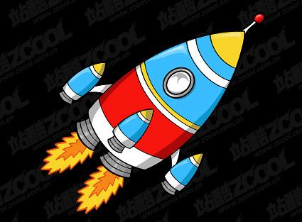 rocket cartoon rockets cartoons flame