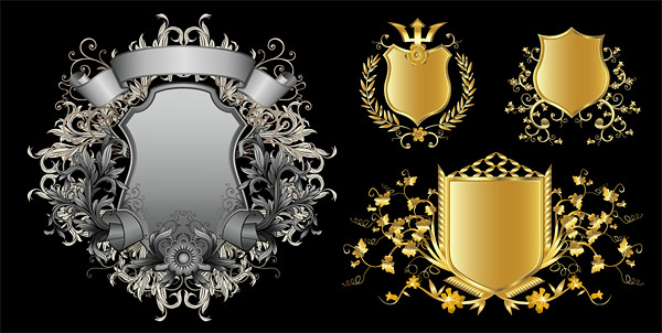 Continental Shields Pattern Vector Material 2 Download