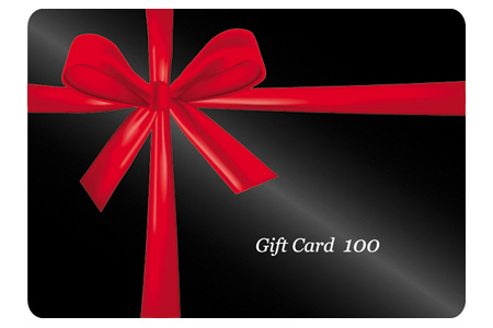Red Ribbon Wrapped Around A Black Gift Cards Vector