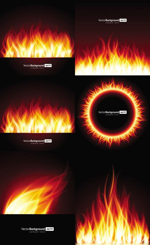 Beautiful Flame Vector Download Free VectorPSDFLASHJPG Wwwfordesignercom