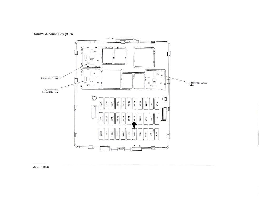 ford focu fuse box diagram 2006