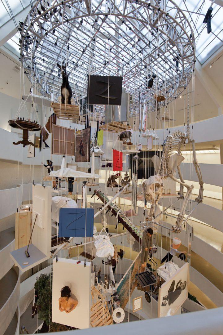 Maurizio Cattelan, All, Guggenheim Museum, New York