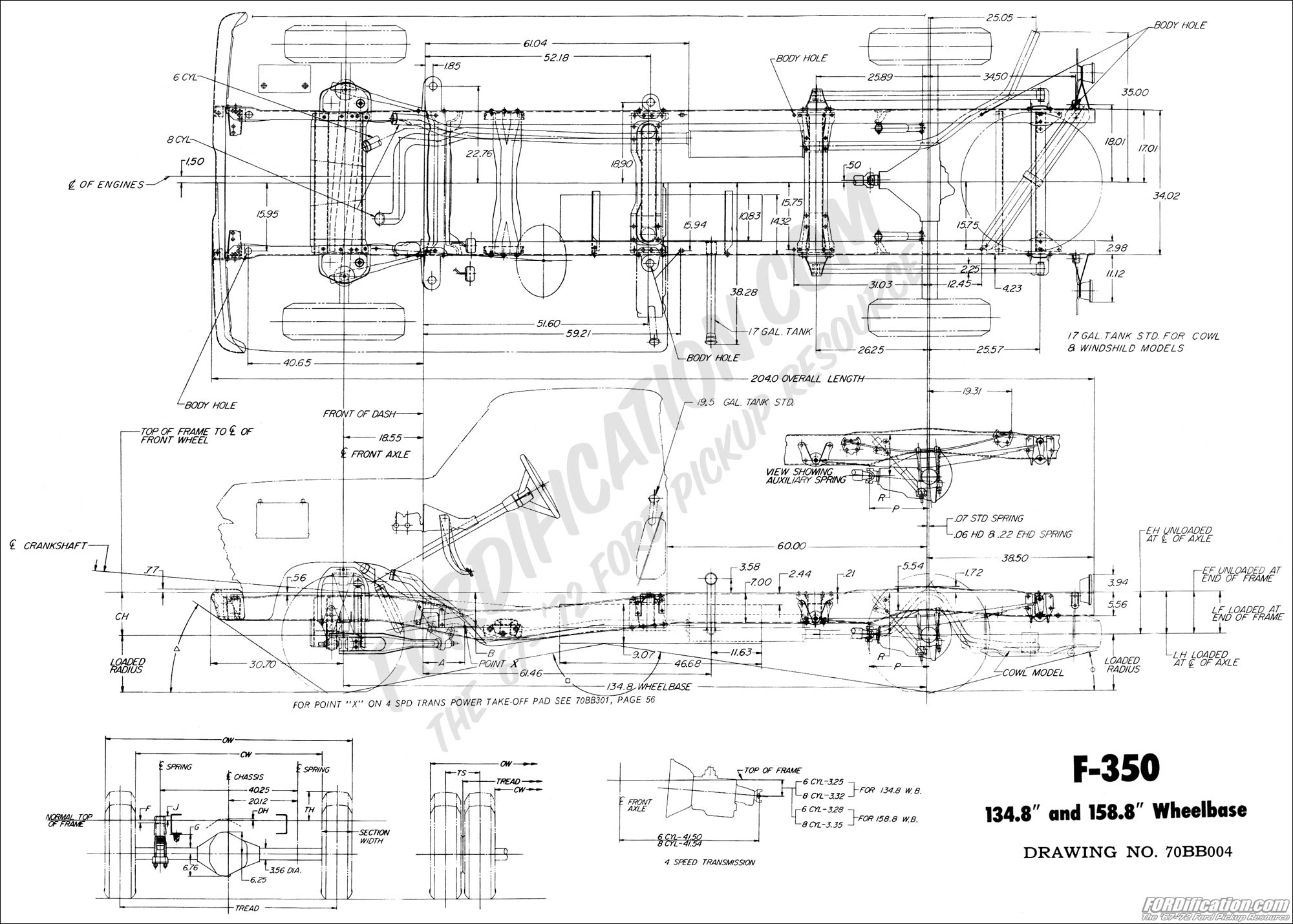 Ford F350 Frame Diagrams