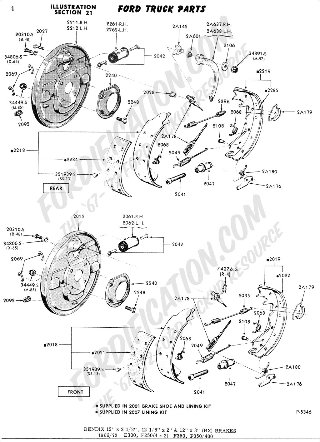 Ford F100 Rear Brake Diagram