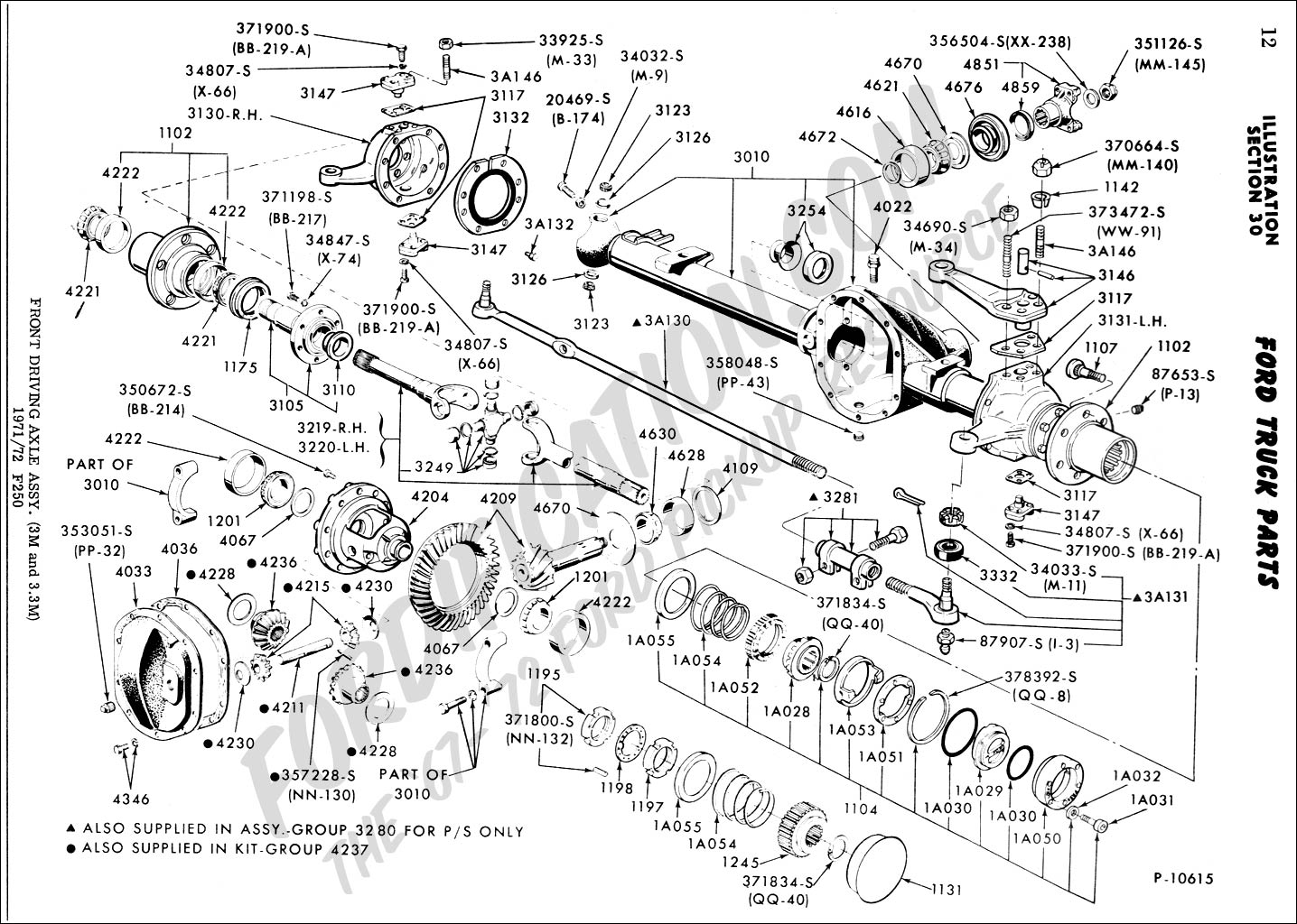 F350 Front Axle Diagram