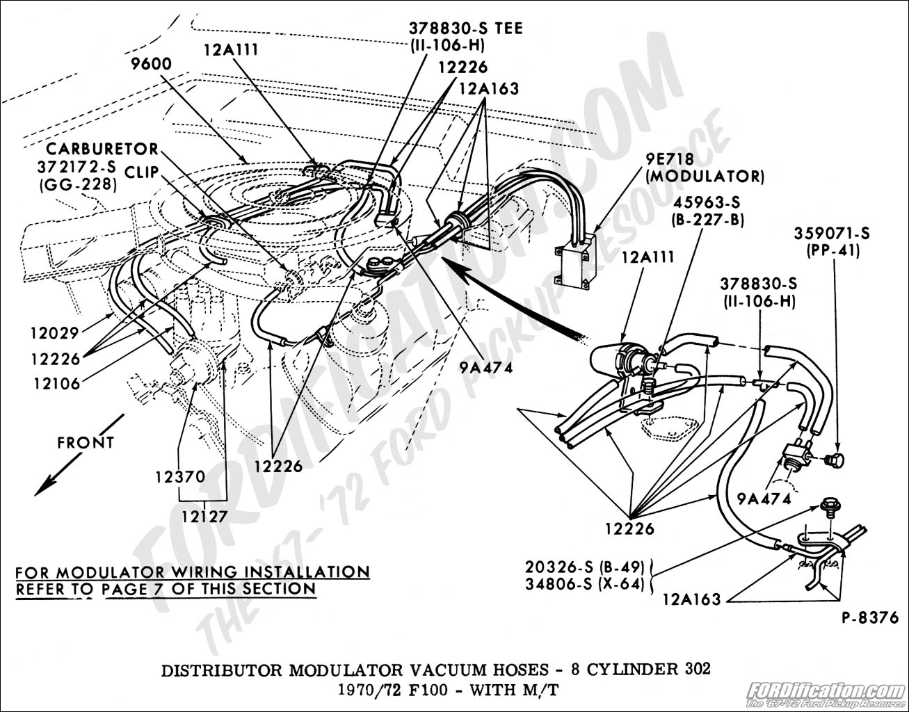Ford truck technical drawings and schematics section i ford 460 carburetor diagram ford 460 distributor diagram
