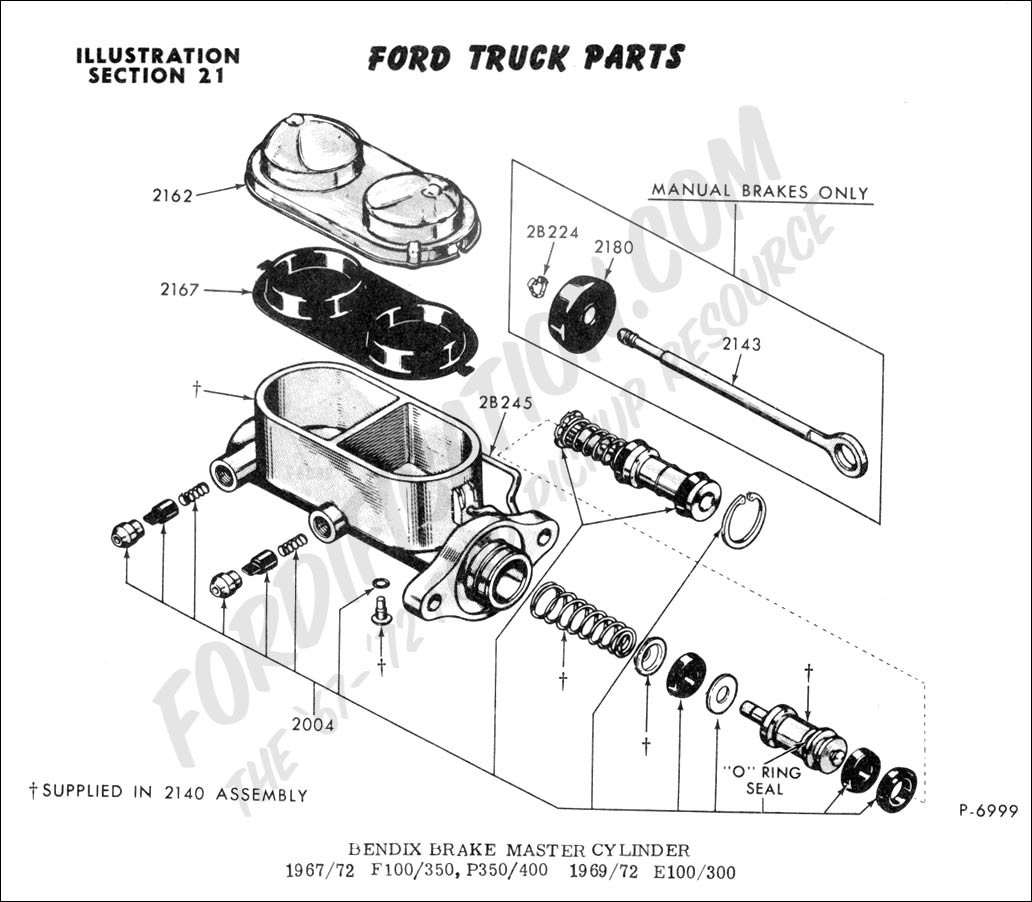 Chevy Brake Master Cylinder Diagram