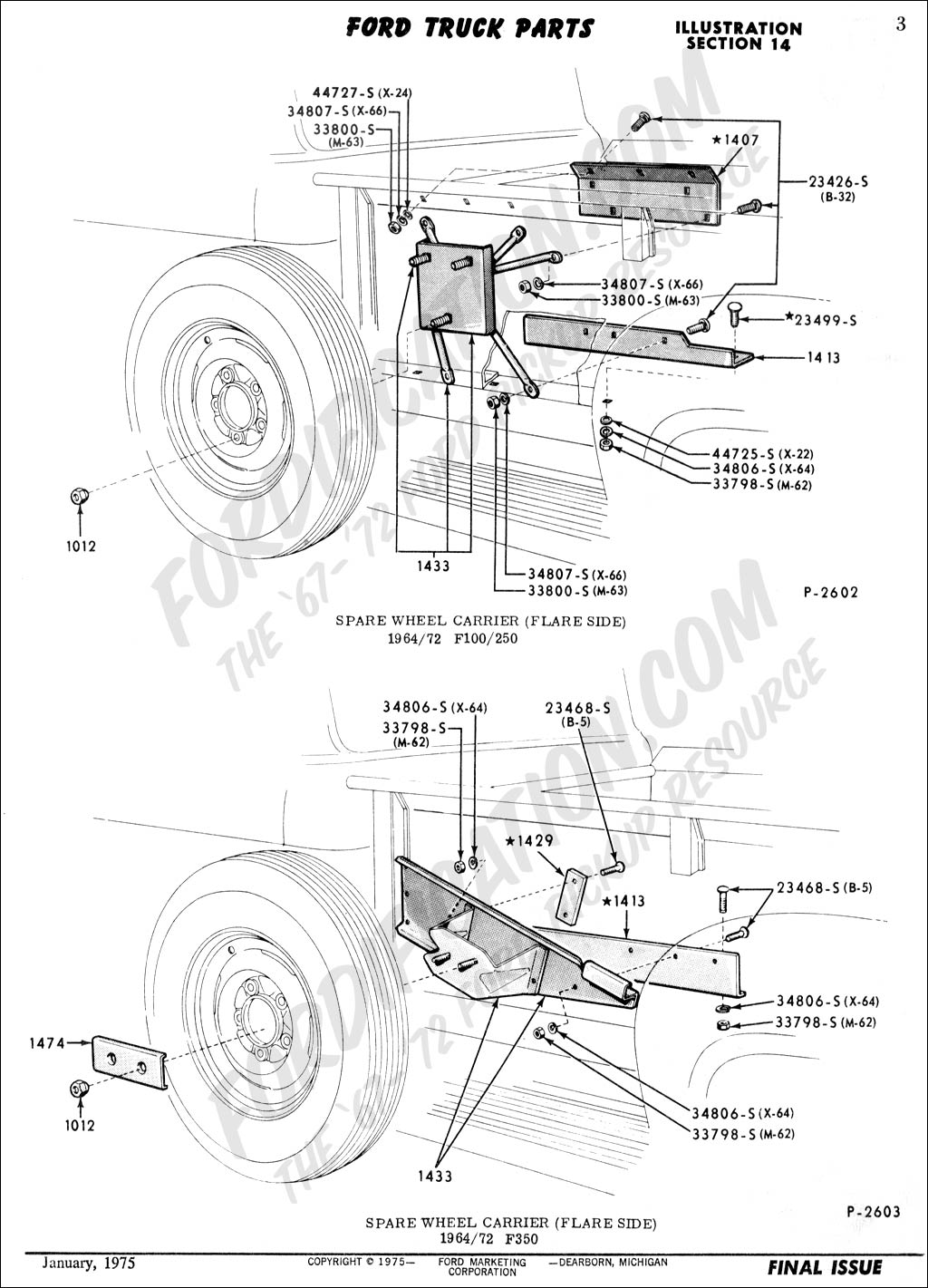 Flare Side Side Mount Wheel Carrier Hardware Needed