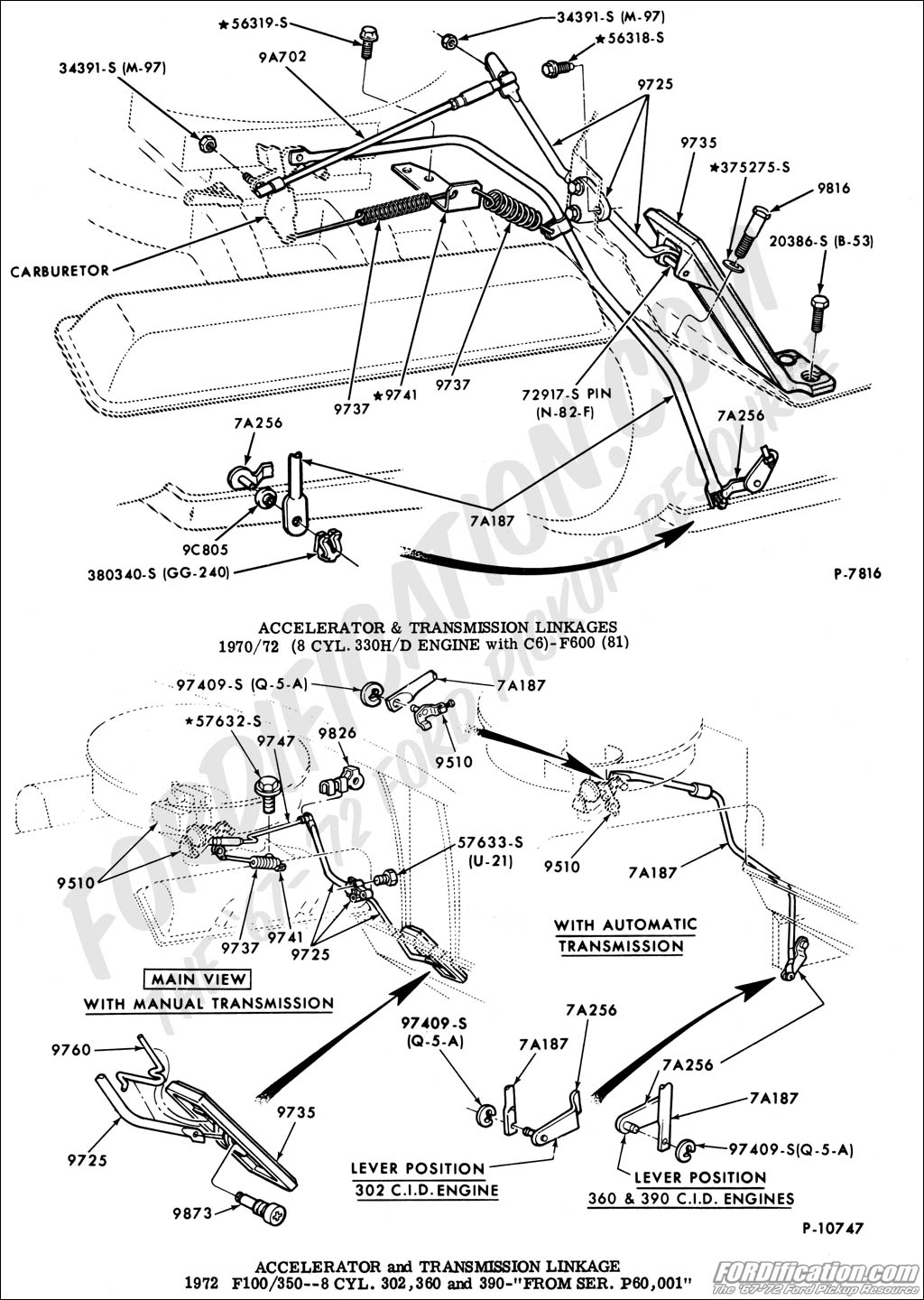 Throttle Linkage And Kick Down Linkage For F100 360 2