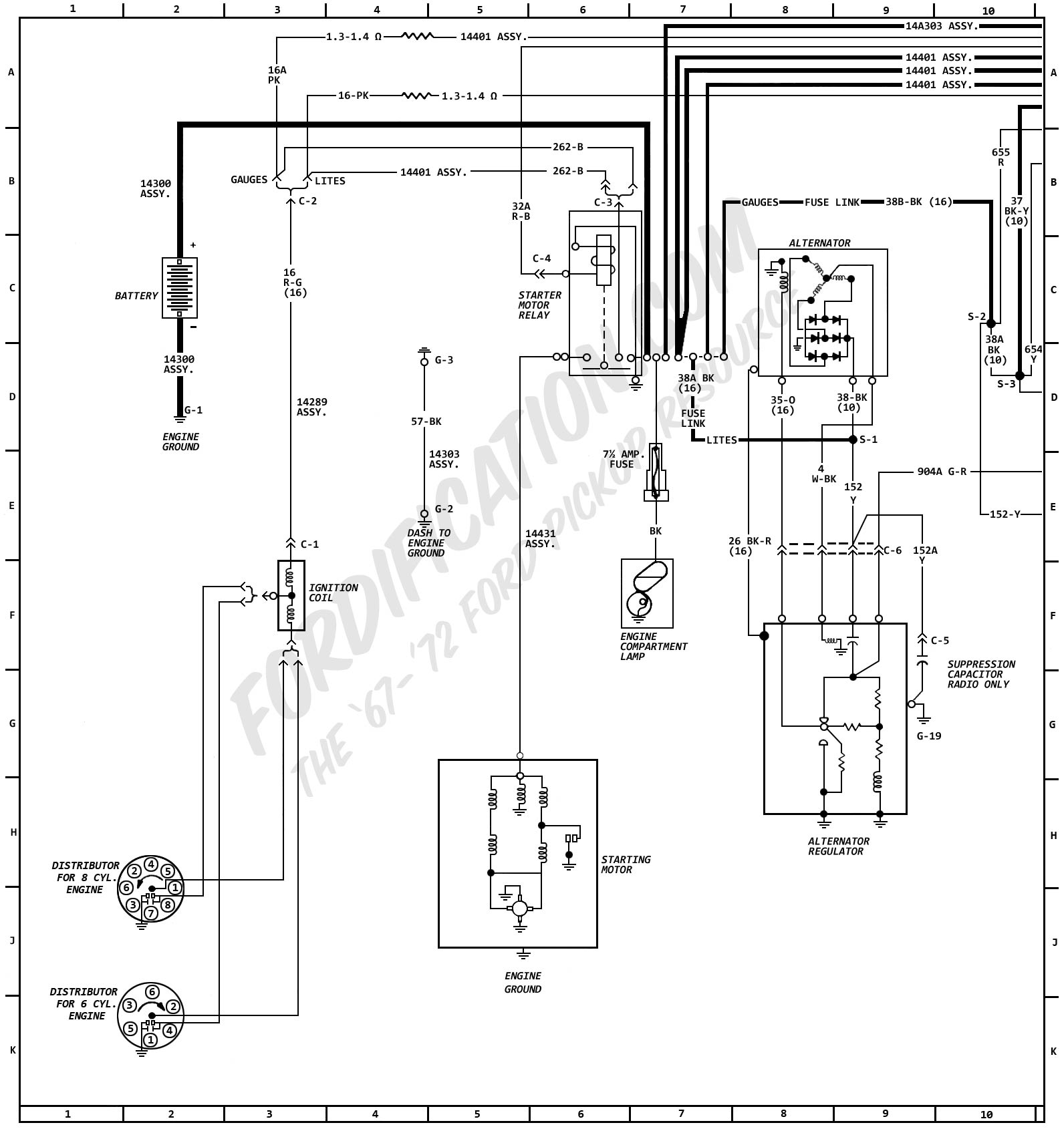 1972MasterWiring_01?resize=665%2C708 ford courier wiring diagram wiring diagram Basic Electrical Wiring Diagrams at edmiracle.co