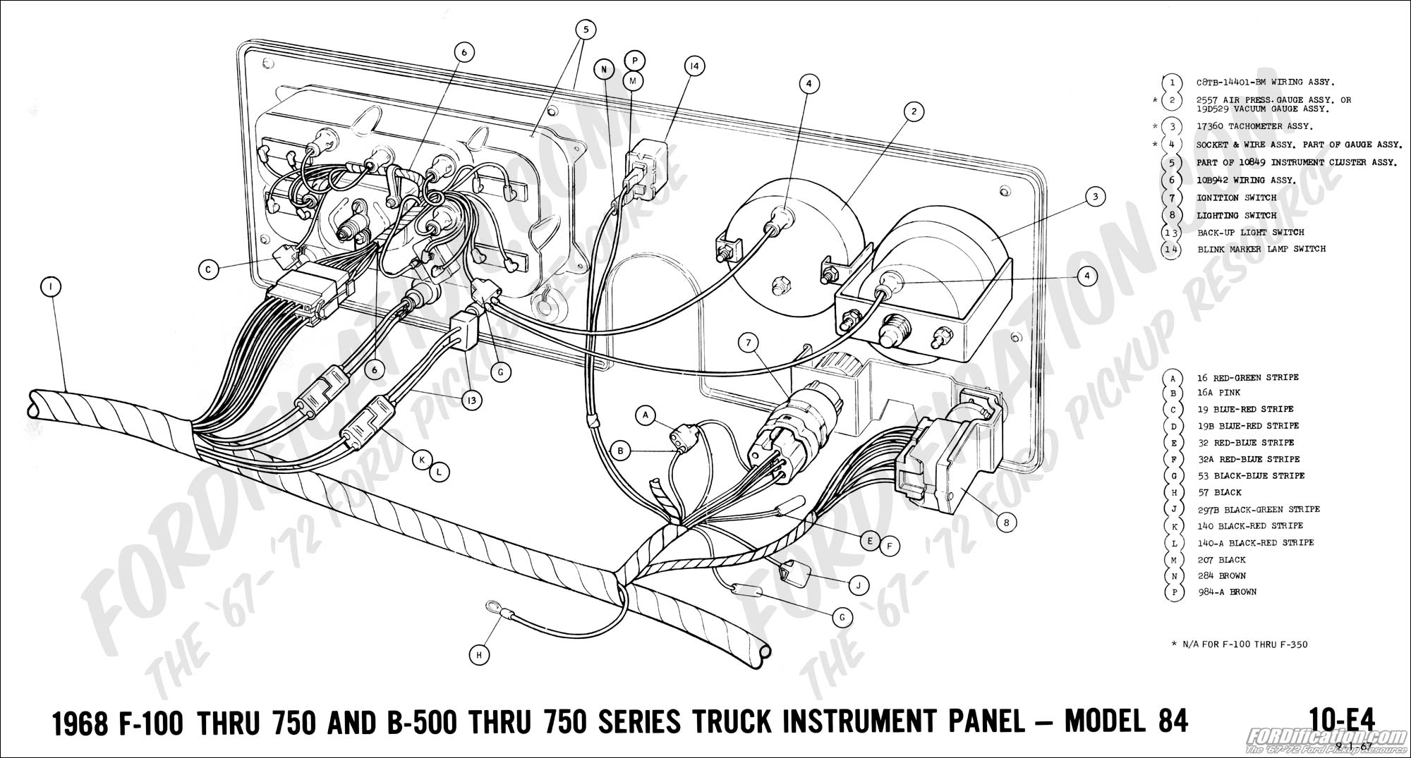 Ford Instrument Cluster Wiring Diagram