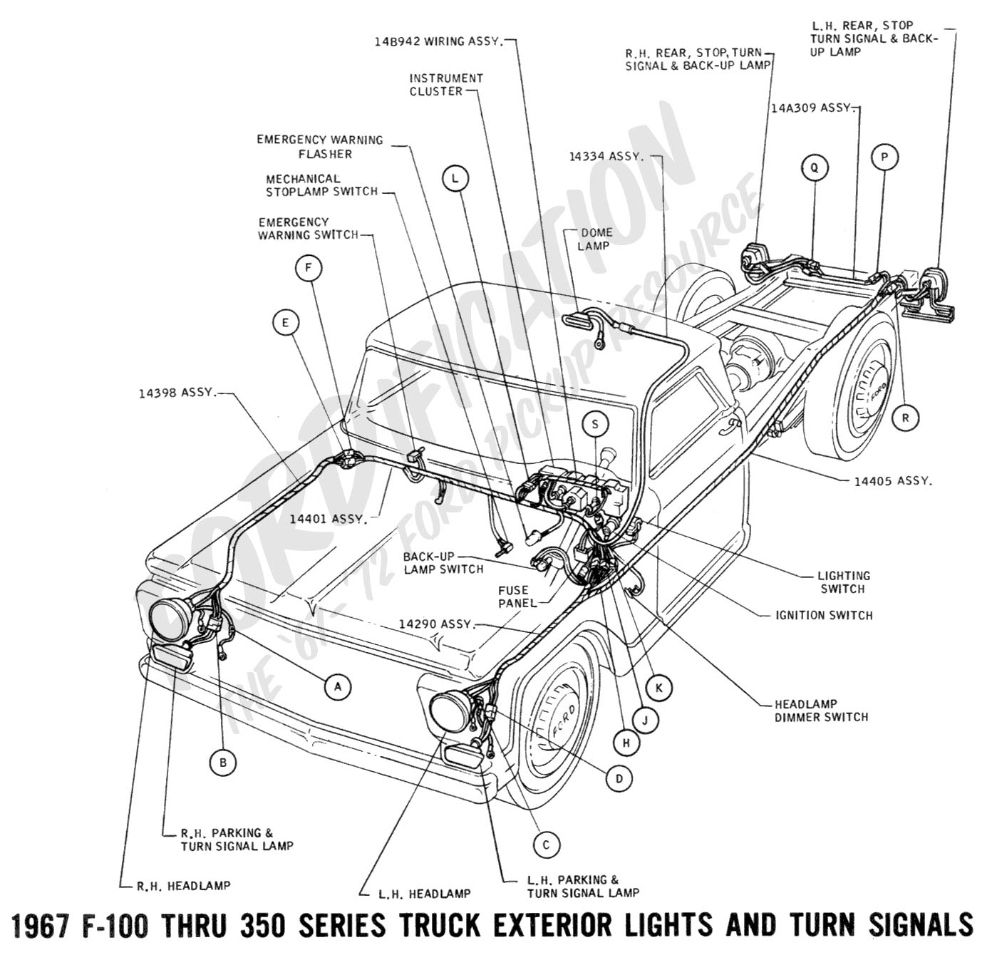 Ford Flathead V8 Diagram