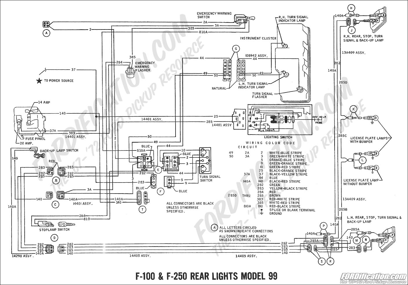 Mustang Tail Light Wiring Diagram