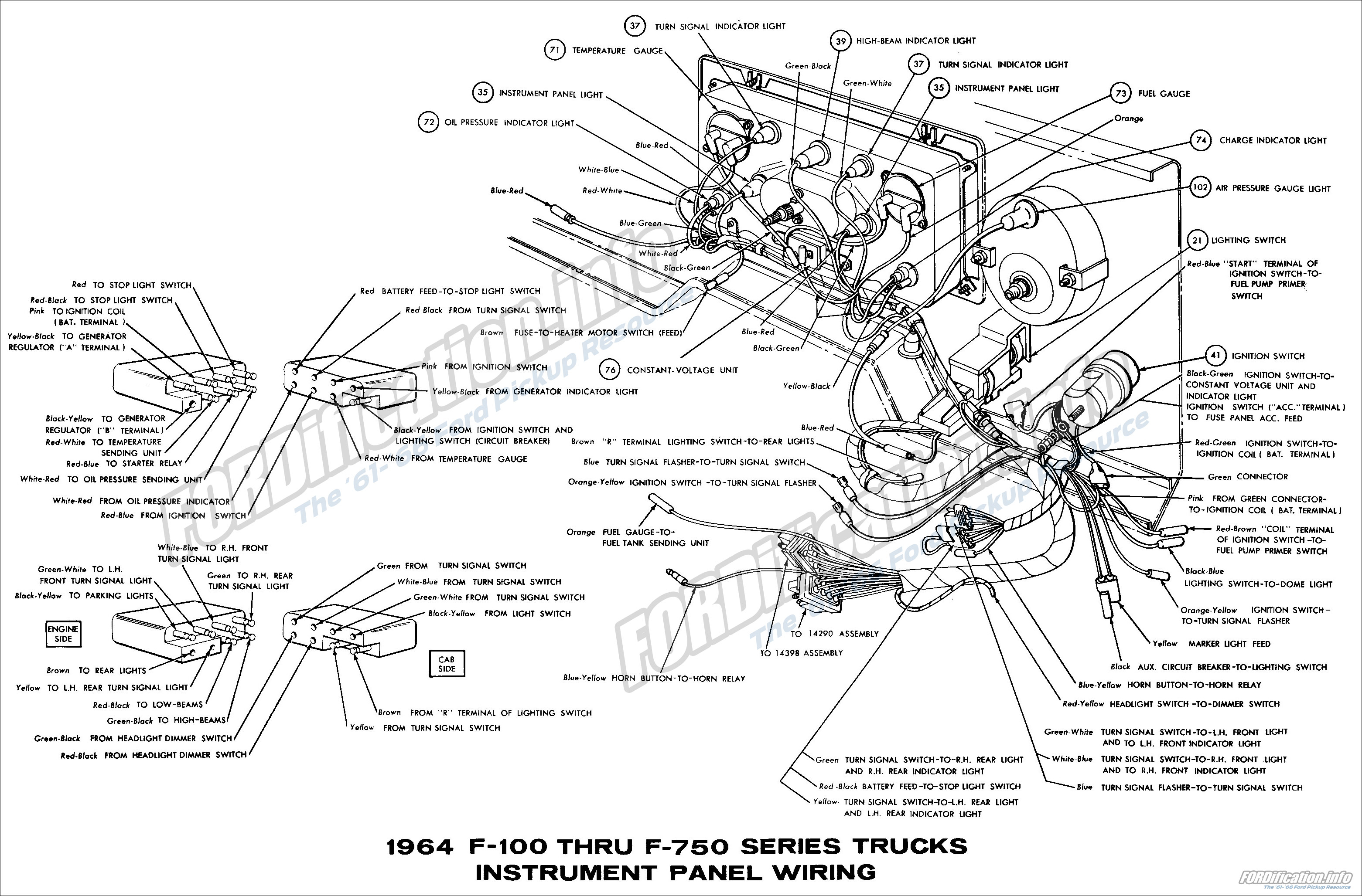 Ford Dash Light Wiring Diagram