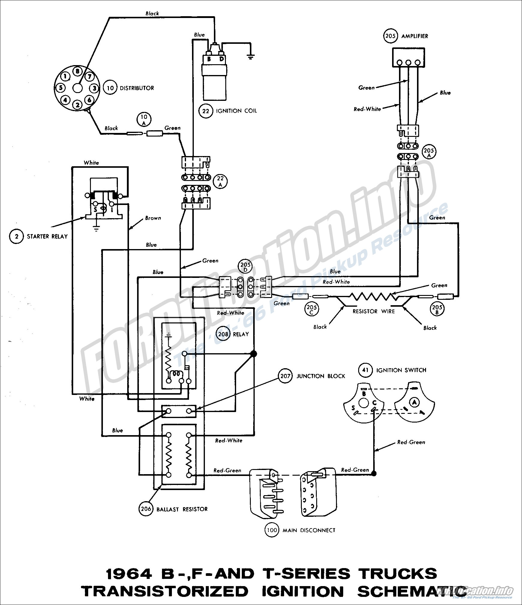 64 Ford Headlight Switch Diagram