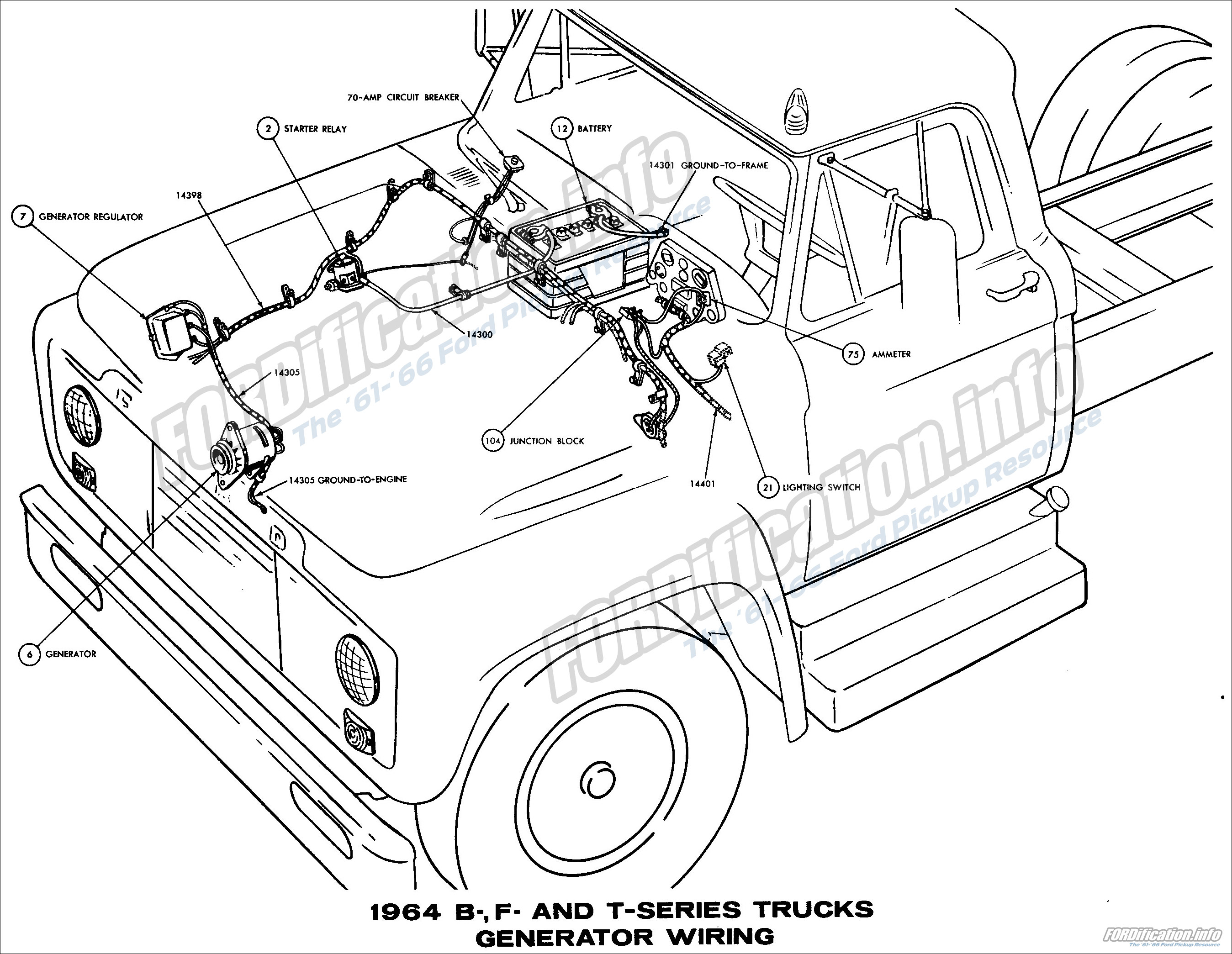 Transistorized ignition schematic 1964 b f and t series trucks generator wiring