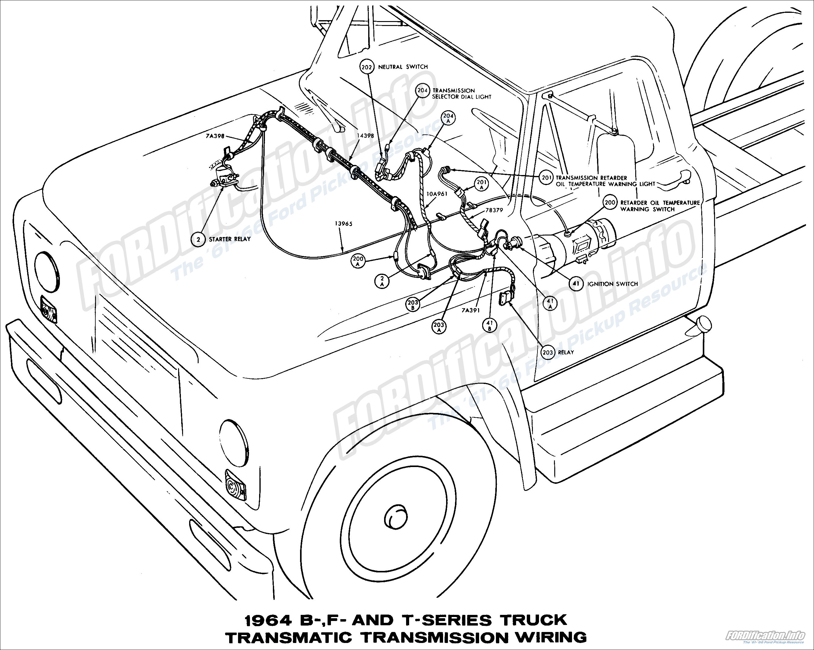1964 ford truck wiring diagrams fordification info the '61 '66 ford pickup resource