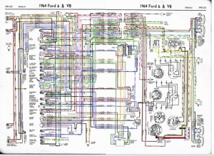 64 galaxie wiring diagram in color here  Ford Muscle
