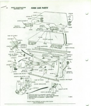 Need a 69 and 70 Mustang side glass diagram  Ford
