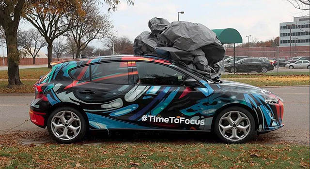 2019 Ford Focus Hybrid spyshot