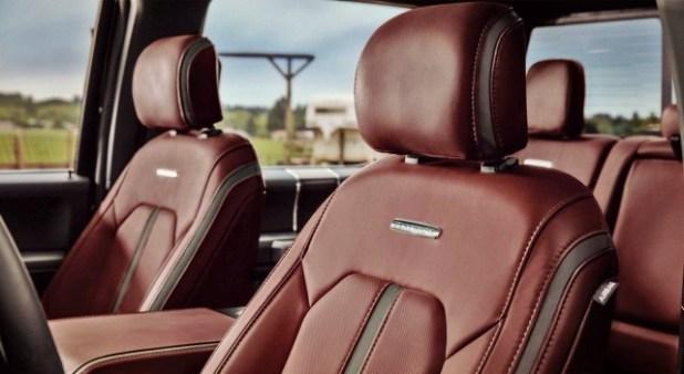 2020 Ford F-350 platinum interior
