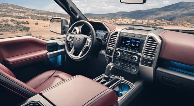 2020 Ford F150 Diesel interior