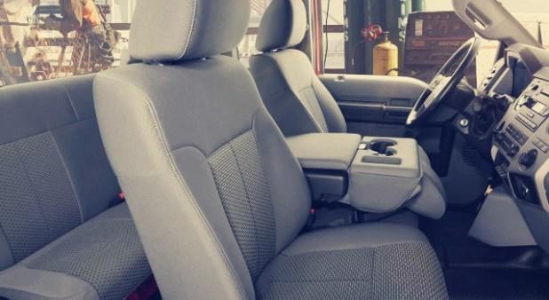 2020 Ford F650 interior