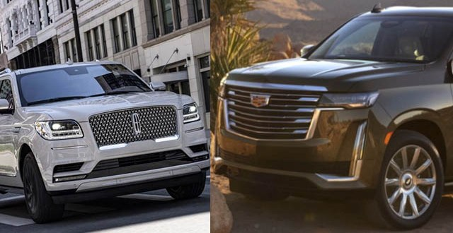 2021 Lincoln Navigator vs. 2021 Cadillac Escalade design