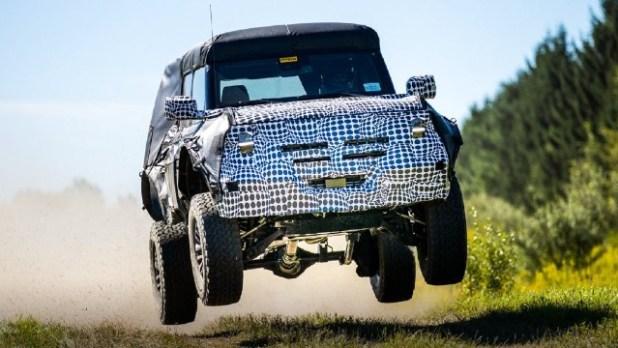 2022 Ford Bronco Raptor spy photos