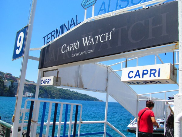 Amalfi coast ferry MARINA GRANDE CAPRI ITALY AMALFI COAST