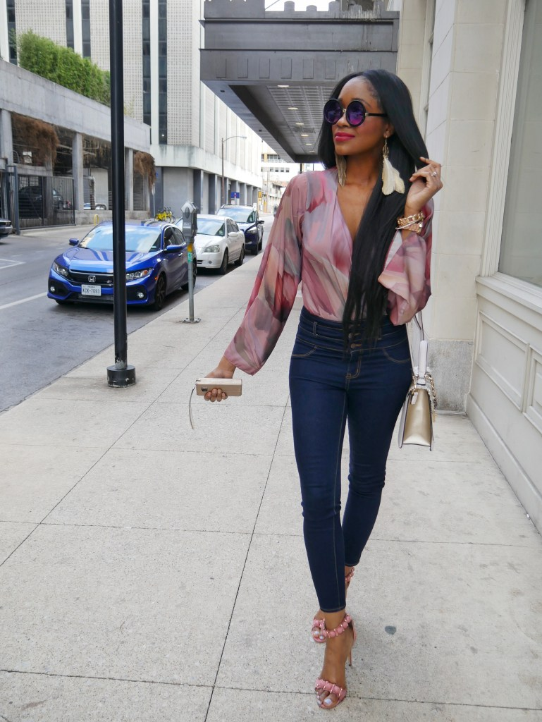 Bell sleeve bodysuit - Fashion Trend: Ring My Bell Sleeve by popular Dallas fashion blogger Foreign Fresh & Fierce