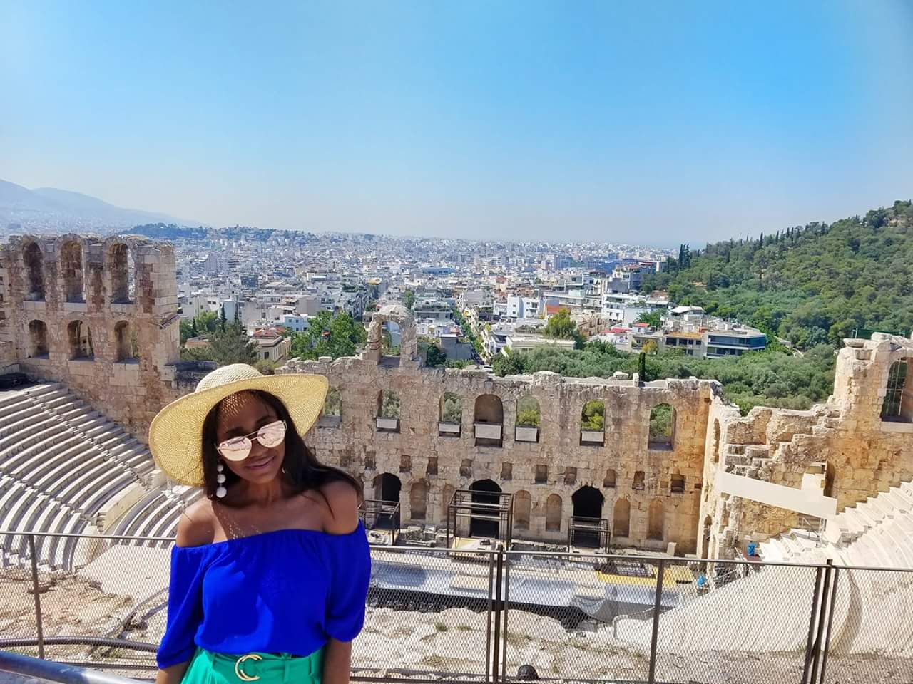 athens Greece acropolis Odeon of Herodes Atticus