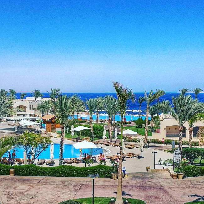 View of Cleopatra Resort from the Lobby