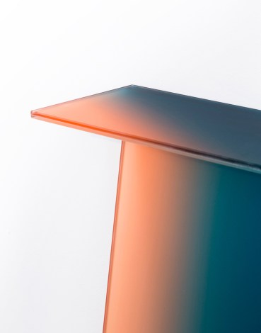 Shaping colour by Germans Ermičs • Through this project, Germans researches the relationship between colour and shape, plays with gradients and shades and creates astonishing glass-colored pieces of furniture and sculptures. • ForeignRooftops.com