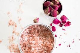 Rose and eucalyptus bath salts DIY