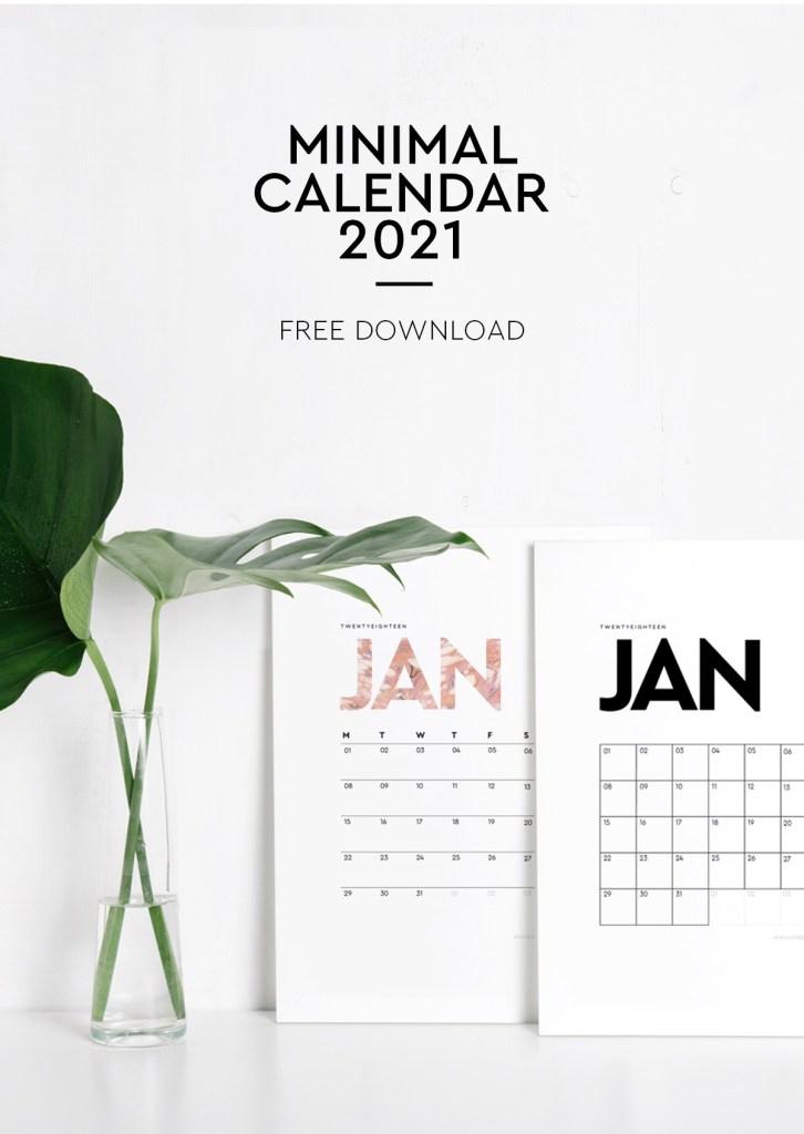 calendario mensual 2021 para imprimir