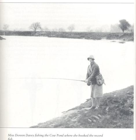 Doreen Davey - Fängerin eines 60 Pfund Lachs aus dem River Wye