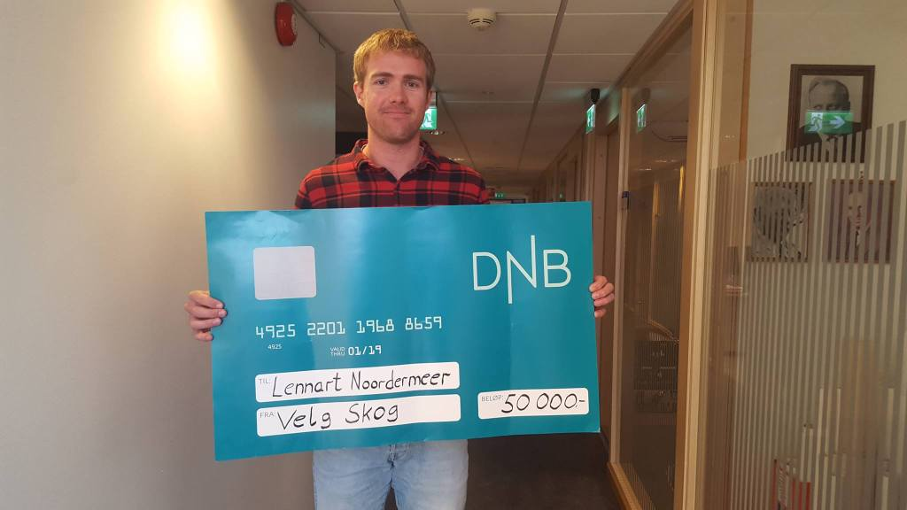 Lennart Noordermeer - PhD Candidate in forestry at MINA, NMBU, with his great award!