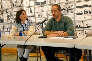 Kristy Athens and Jon Bell, the nonfiction authors on the panel, discuss using their own personal stories in their books.