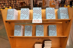 Dan Berne's books, stacked before the Powell's launch.