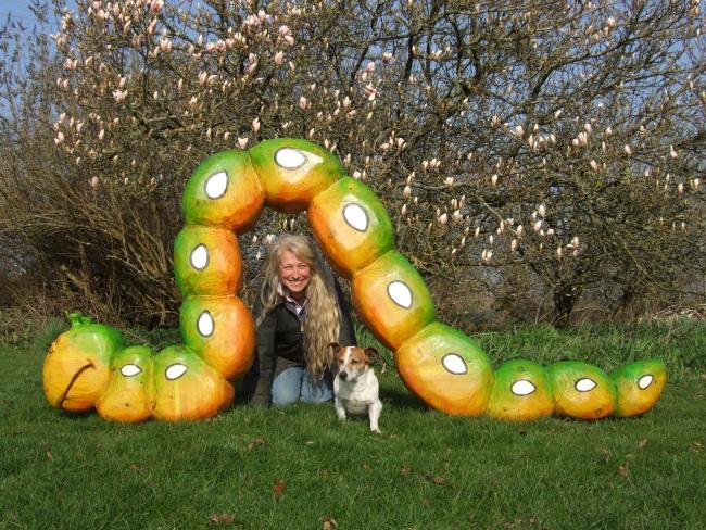 Caterpillar Playground Garden Sculpture Schools Playtime