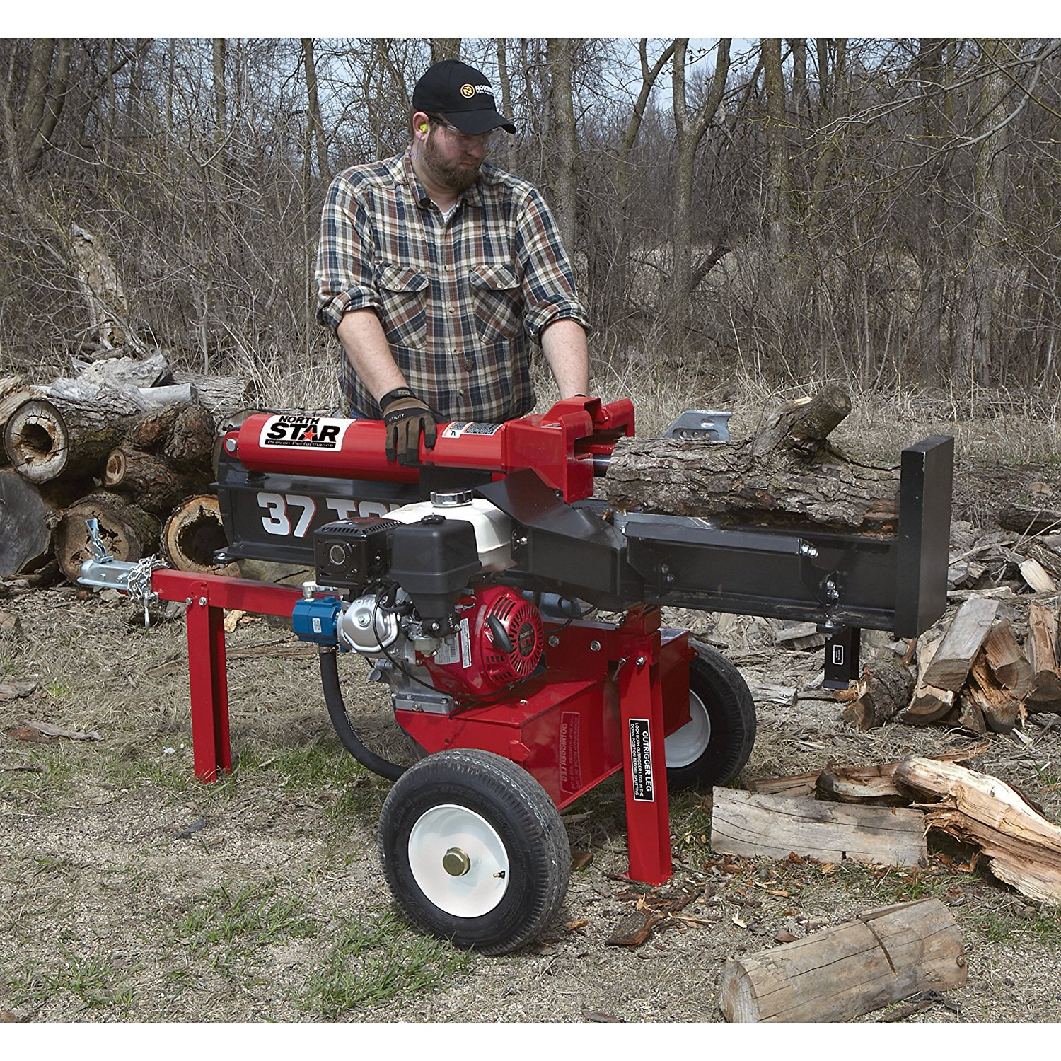 NorthStar_37-Ton, 270cc_hydraulic_powered_log_splitter