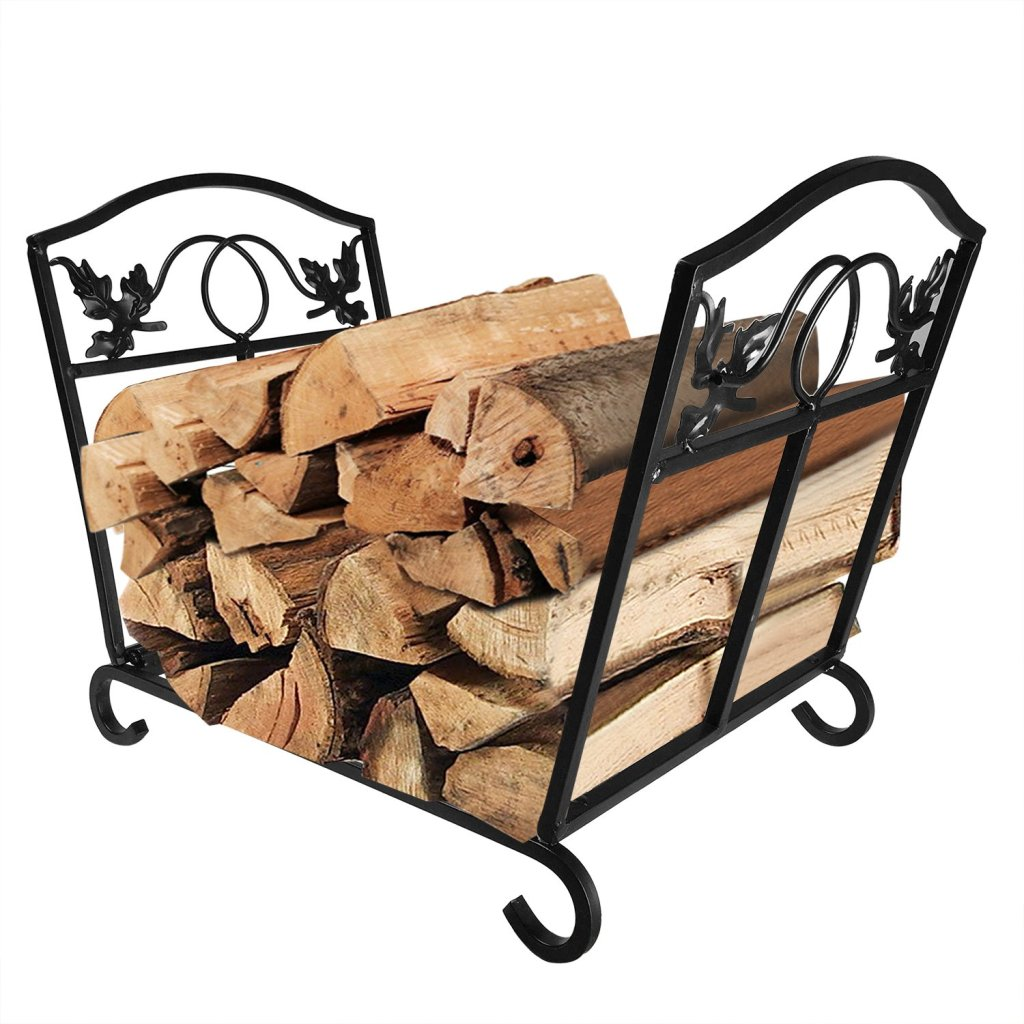 Fireplace Log_Holder-Wrought _ron_Indoor_Fire_Wood_Stove_Stacking_Rack_&_Wood_Holders_Fire_Place_Tools