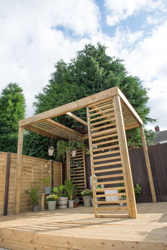 Forest Garden Raised Log Planter