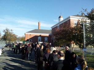 Voters line up at Murch, November 2012.