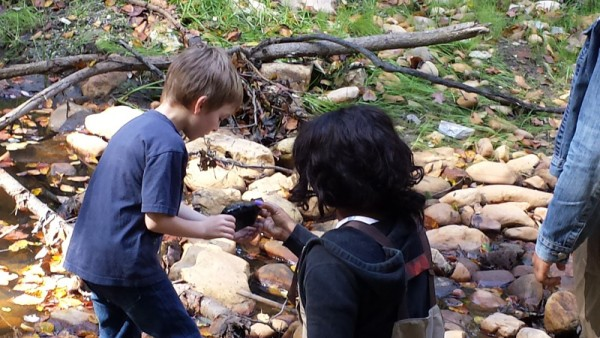 Kids were - and are - encouraged to explore the streams.