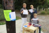 These enterprising young comic artists took the opportunity to set up a booth to sell their comic strips.