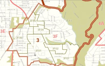 Map of ANC 3F's existing borders. Click on the image for a larger version.